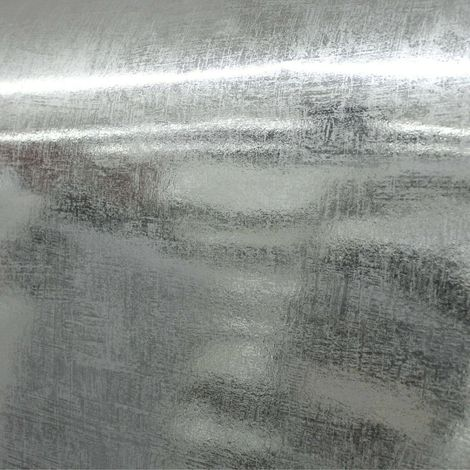 Silver Foil Wallpaper Distressed Mirror Effect Rustic Industrial Boutique Luxury