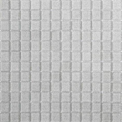 Silver Glitter Glass Mosaic Tiles Feature Wall Splashback Borders MT0073