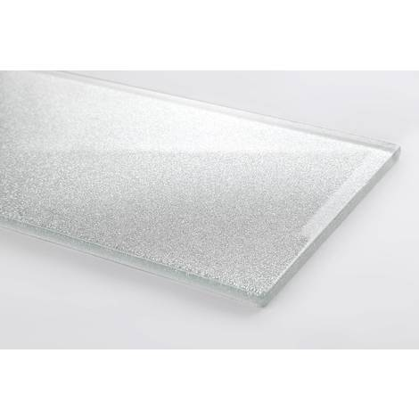 Silver Glitter Glass Tiles Bathroom Bath Splashback MT0075