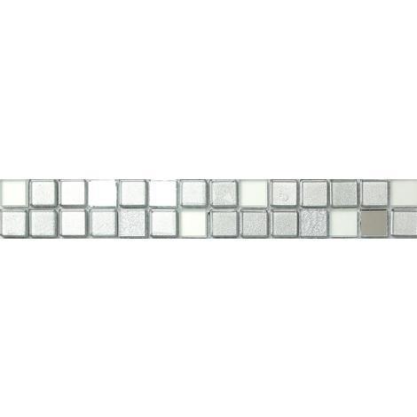 Silver Mirror Foil Gl Mosaic Wall Tiles Strips Border Strip Bathroom Mb0046