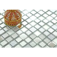 Silver Mirror Foil Mix Glass Mosaic Wall Tiles MT0046