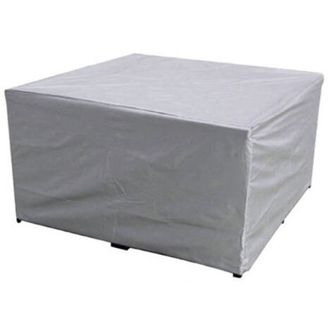 Silver outdoor garden waterproof cover, courtyard table and chair dust cover, combined table and chair cover 250*200*80cm