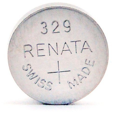 Silver oxide button cell 329 RENATA 1.55V 37mAh