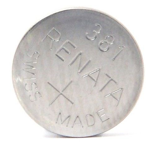 Silver oxide button cell 381 RENATA 1.55V 50mAh