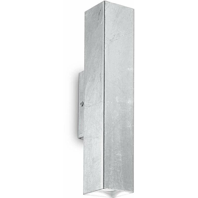 01-ideal Lux - Silver SKY Wandleuchte 2 Glühbirnen
