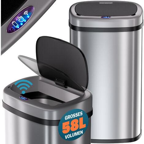 Silver Square Sensor Bin 50 litre – Waste Bin Bin Waste Bin
