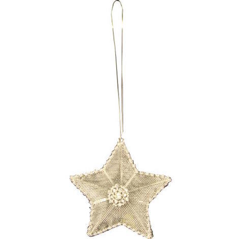 Silver Star Tree Bauble