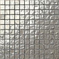 Silver Textured Glass Mosaic Wall Tiles MT0127
