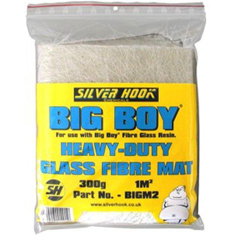 Silverhook Big Boy Glass Fibre Mats for Car and Boat Body 1 sqm with 300g