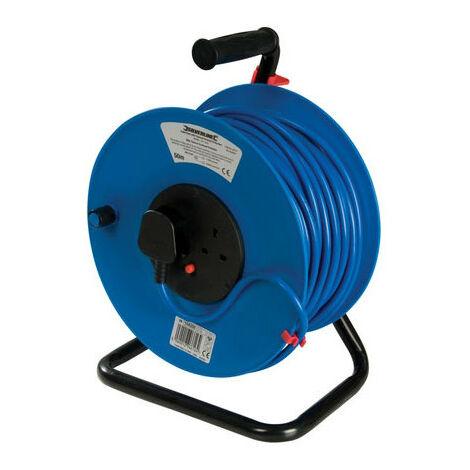 Silverline 200084 Cable Reel 230V Freestanding 13A 50m 2 Socket