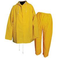 """Silverline 245058 Rain Suit Yellow 2pce M 72 - 126cm (28 - 50"""")"""