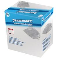 Silverline 245104 Respirator Fold Flat Valved FFP2 NR Display Box 25 FFP2 NR