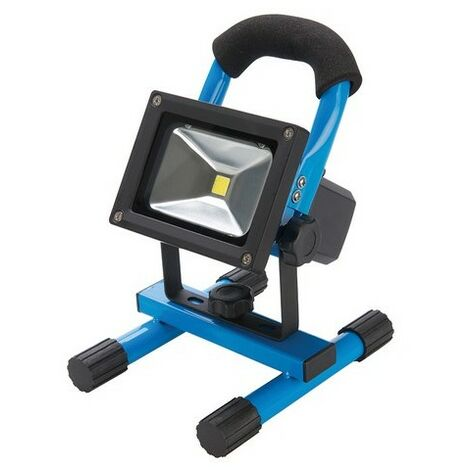 Silverline 258999 LED Rechargeable Site Light with USB 10W UK