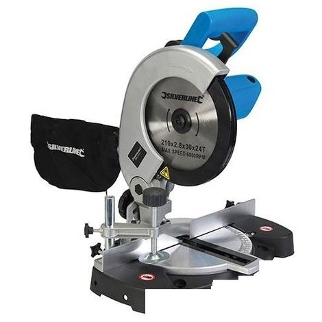 Silverline 262705 DIY 1400W Compound Mitre Saw 210mm 1400W