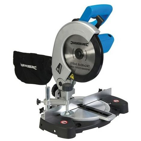 Silverline 262705 DIY 1400W Compound Mitre Saw 210mm