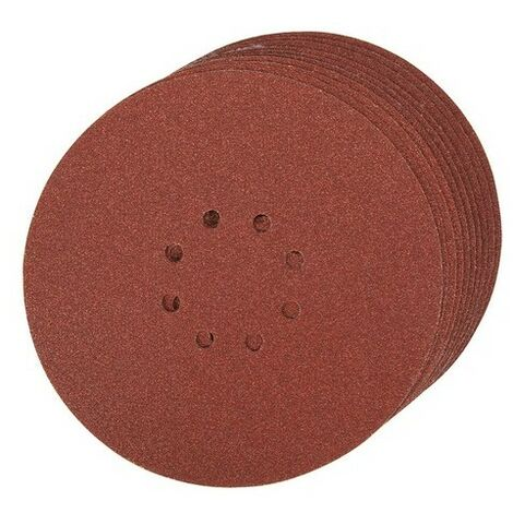 Silverline 274762 Hook & Loop Discs Punched 225mm 10pk 60 Grit