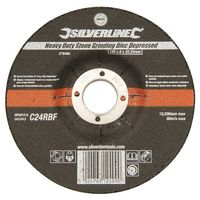 Silverline 276483 Heavy Duty Stone Grinding Disc Depressed 125 x 6 x 22.23mm