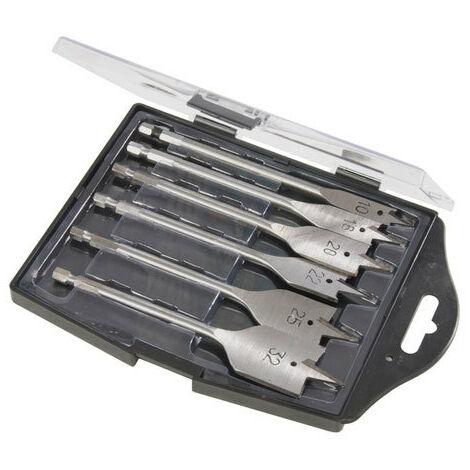 Silverline 282566 Flat Wood Drill Bit Set 6pce 10-32mm