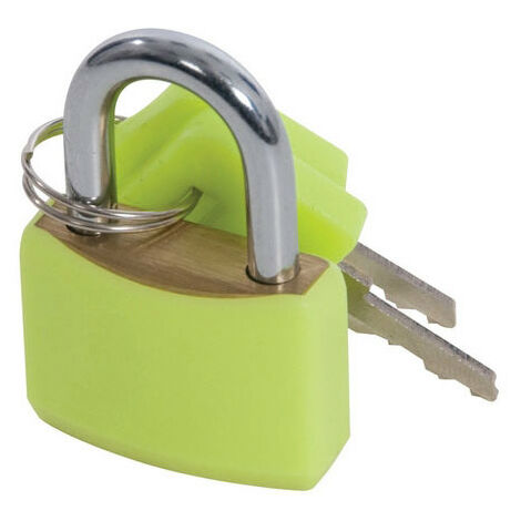 Silverline 282715 Hi-Vis Brass Padlocks Set 4pce 20mm