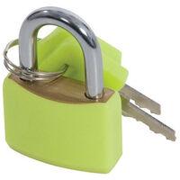 Silverline 282715 Hi-Vis Brass Padlocks Set 4pce 20mm