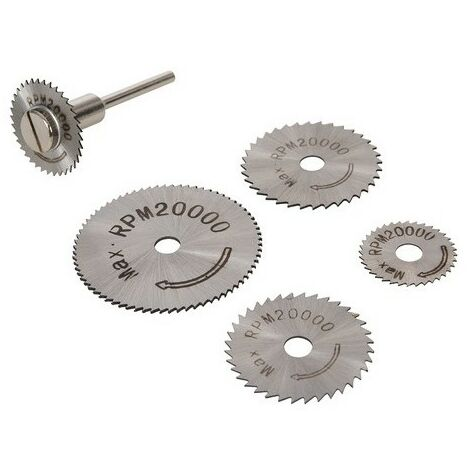 Silverline 289305 HSS Saw Disc Set 6 Piece 22, 25, 32, 35 & 44mm