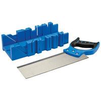 Silverline 335464 Mitre Box & Saw 300 x 90mm