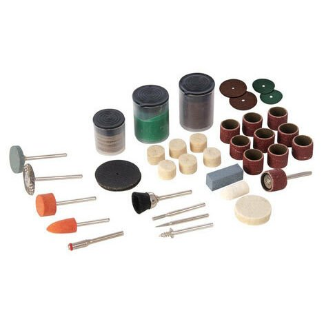 Silverline 349758 Hobby Tool Accessory Kit 105pce 3.1mm dia Mandrels