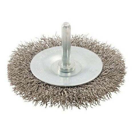 Silverline 357148 Rotary Stainless Steel Wire Wheel Brush 75mm