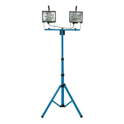 Silverline 365874 Tripod Twin Site Light 2 x 400W 230V UK