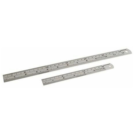 Silverline 406797 Stainless Steel Rule Set 2pce 150 & 300mm