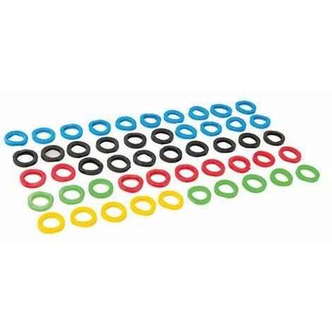 Silverline 431620 Coloured Plastic Key Covers 50pk