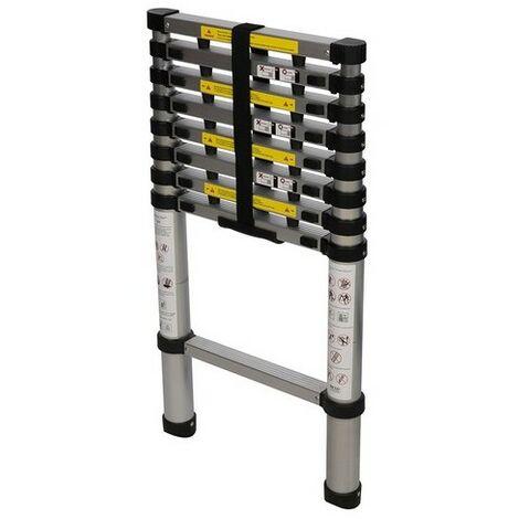 "main image of ""Silverline 452123 Telescopic Ladder 2.6m 9-Tread"""