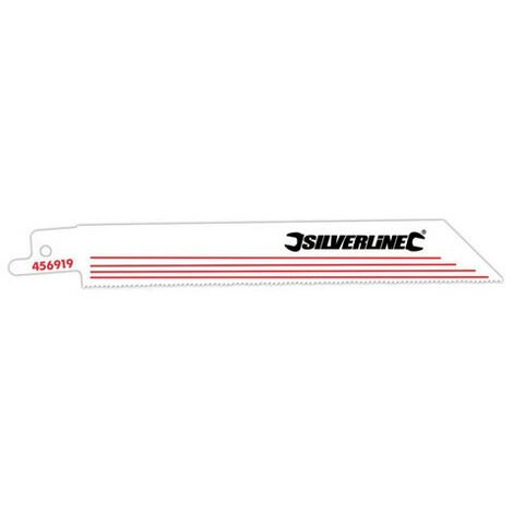 """main image of """"Silverline 456919 Recip Saw Blades for Alloy 5pk HCS - 18tpi - 150mm"""""""