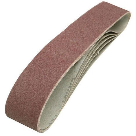 Silverline 463484 Sanding Belts 50 x 686mm 5pk 80 Grit