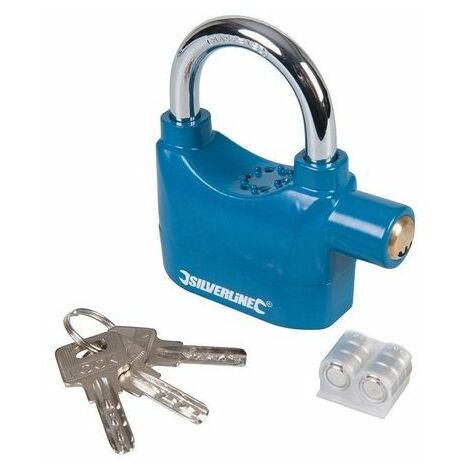 Silverline 507205 Alarm Padlock 70mm