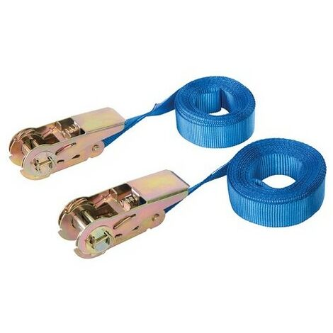 Silverline 566269 Endless Ratchet Tie-Down Strap 2pk Rated 250kg Capacity 500kg