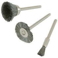 Silverline 580466 Steel Brush Set 3pce 5, 15, 19mm