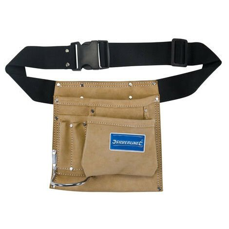 Silverline 589704 Nail & Tool Pouch Belt 5 Pocket 220 x 220mm