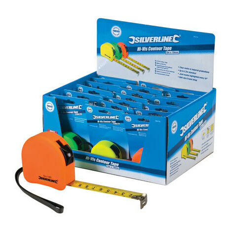Silverline 595750 Hi-Vis Contour Tape Display Box 21pce 5m x 19mm