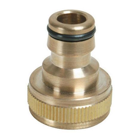 """Silverline 598438 Tap Connector Brass 3/4"""" - 1/2"""""""