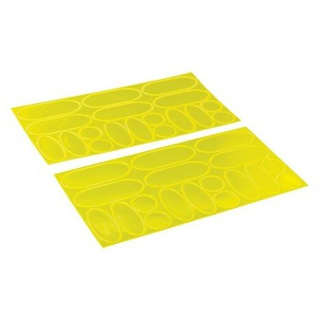 Silverline 598613 Hi-Vis Reflective Stickers 36pce 36pce