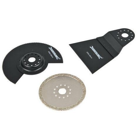 Silverline 609074 Multi-Tool Accessory Kit 3pce