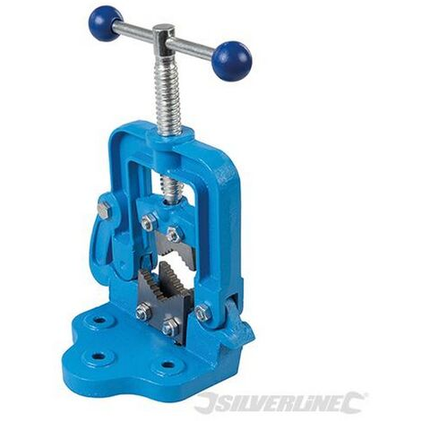"""main image of """"Silverline (609150) Hinged Pipe Vice 12 - 60mm"""""""
