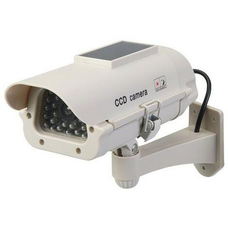 Silverline 614458 Solar-Powered Dummy CCTV Camera with LED Solar-Powered