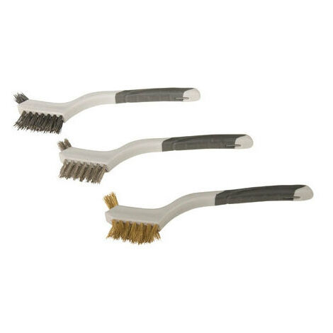 Silverline 617623 Mini Wire Brush Set 3pce 3pce