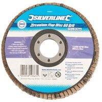 Silverline 633890 Zirconium Flap Disc 115mm 40 Grit