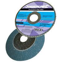 Silverline 633890 Zirconium Flap Disc 115mm 40 Grit