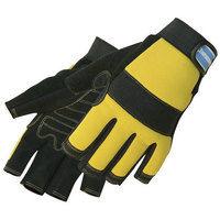Silverline 633906 Fingerless Mechanics Gloves M