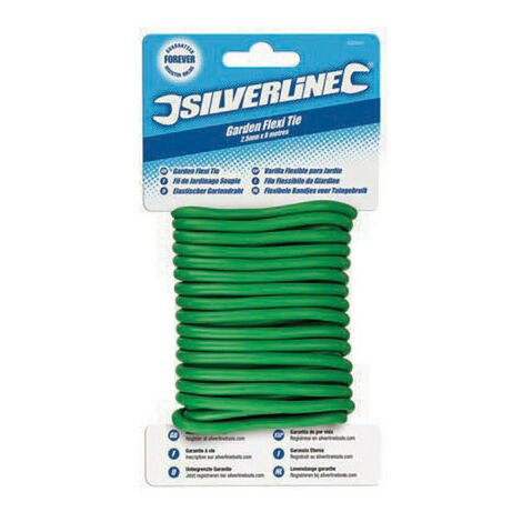 Silverline 633941 Garden Twisty Ties 2.5mm x 8m