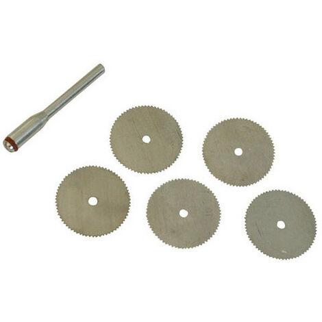 Silverline 656628 Steel Cutting Disc Kit 6pce 22mm